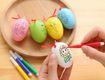 Bộ 10 trứng tô màu  kèm 4 bút màu mỗi trứng