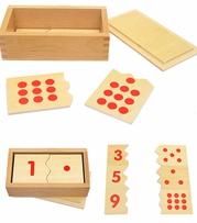 Hộp ghép học số - Đồ chơi gỗ giáo dục hiệu quả cho bé học đếm